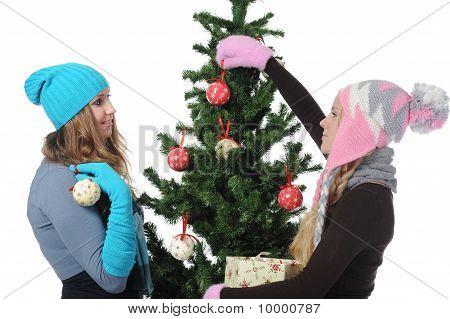 Beeld van twee jonge vrouwen