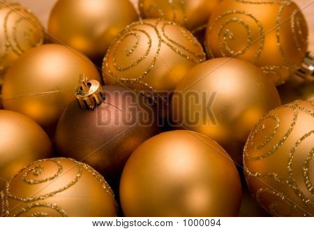 Golden Christmas Baubles
