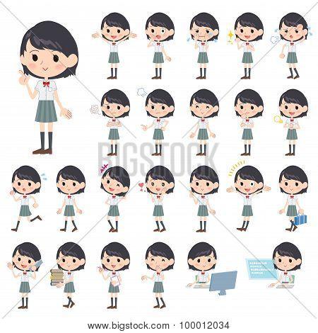 Schoolgirl White Shortsleeved Shirt