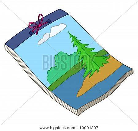 Notebook with landscape