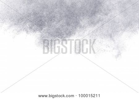 Abstract Steam On A White Background.