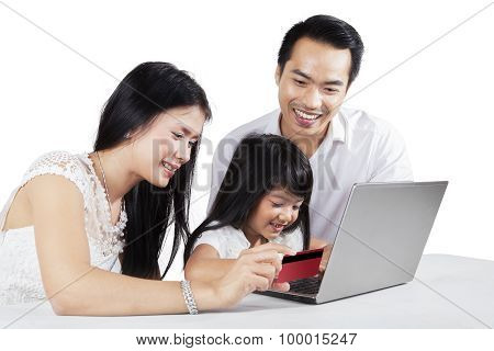 Asian Family Buying Online