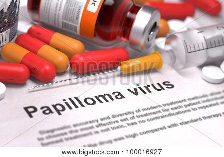 Papilloma Virus Diagnosis. Medical Concept.