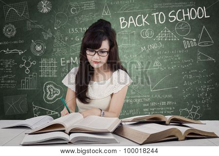 High School Learner Doing School Assignment