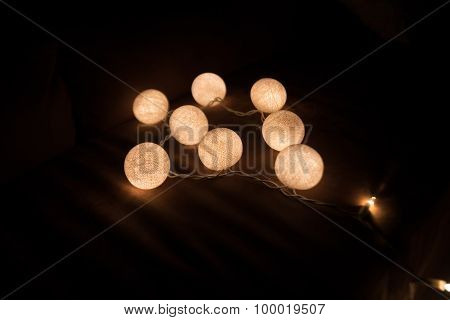 Colorful Light Cotton Ball String light