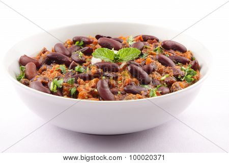 Healthy Rajma curry from Indian cuisine.
