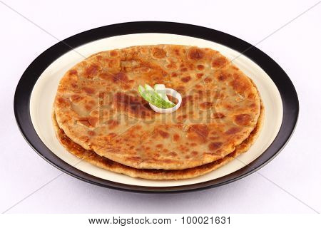 Tasty and crispy Aloo Paratha .