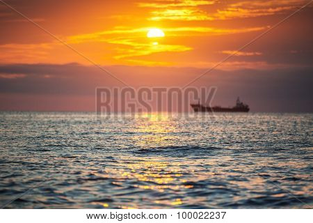 Morning Sunrise Over Sea