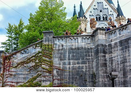 Neuschwanstein Fairytale Castle is a nineteenth- century Romanesque Revival Palace in Bavaria, Germa