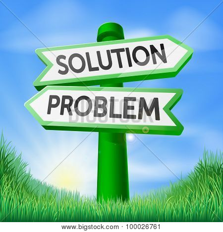 Solution Problem Decision Sign