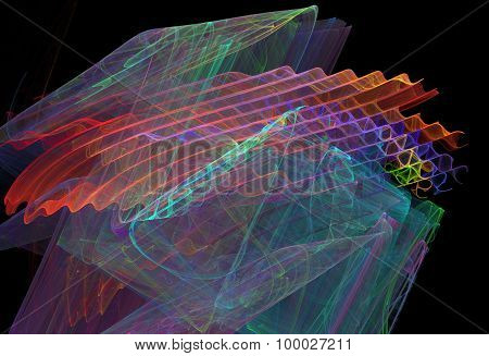 Abstract Fractal Background Waves, Ripples