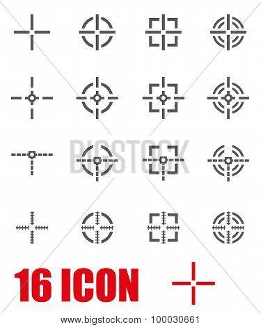 Vector Grey Crosshair Icon Set
