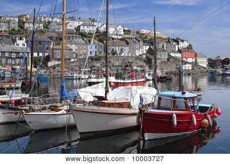 The Fishing Port Of Mevagissey In Cornwall England
