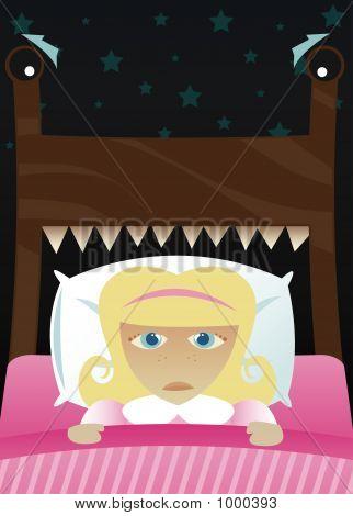 Little Girl Scared Of The Dark