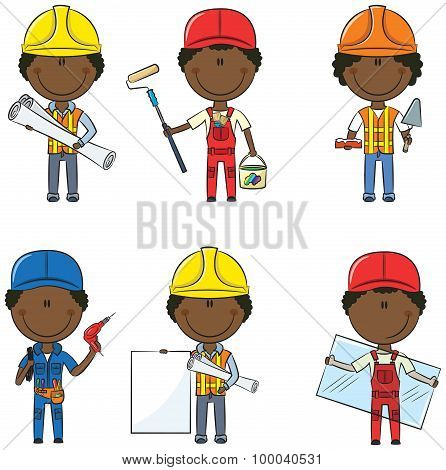 African-american Construction Workers