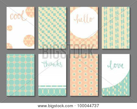 Set of printable journaling cards