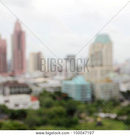 Blury Modern Building
