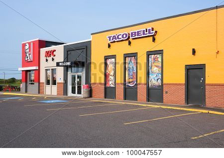 Taco Bell And Kfc Restaurant