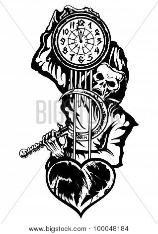 Grim Reaper Or The Death With A Clock