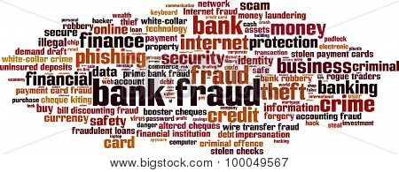 Bank Fraud Word Cloud