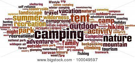 Camping Word Cloud