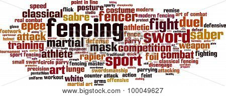 Fencing Word Cloud