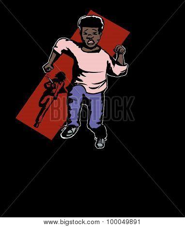 Criminal Chasing Boy