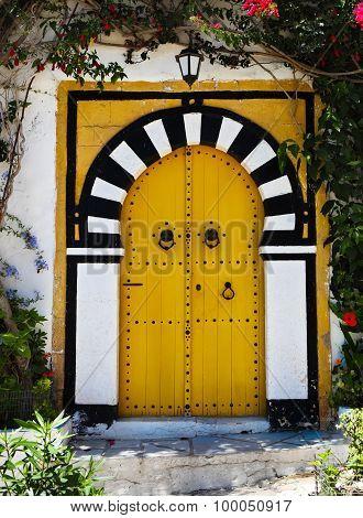 Door Of Sidi Bou Said. La Gulett, Tunisia
