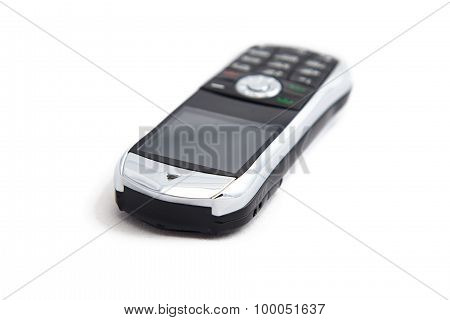 Image of silver mobile telephone