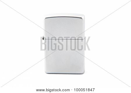 Photo gray closed gas lighter