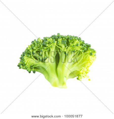 Boiled Green Broccoli Ingredient Top View