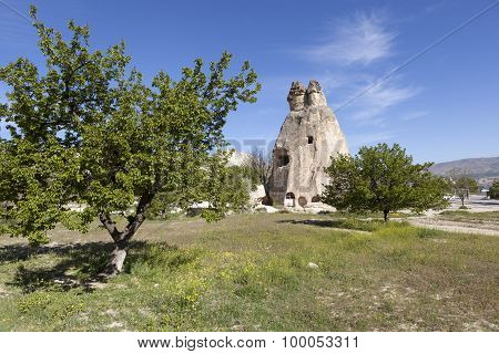 Cappadocia, Turkey. Rock weathering Monks Valley (Valley Pashabag)