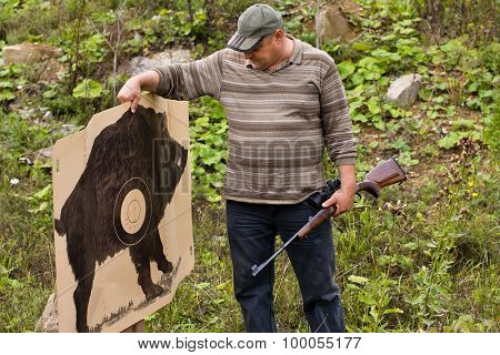 Hunter With Shooting Target
