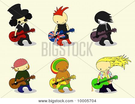 cartoon guitarists
