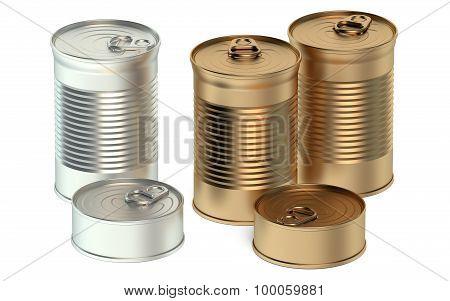 Set Of Tin Cans