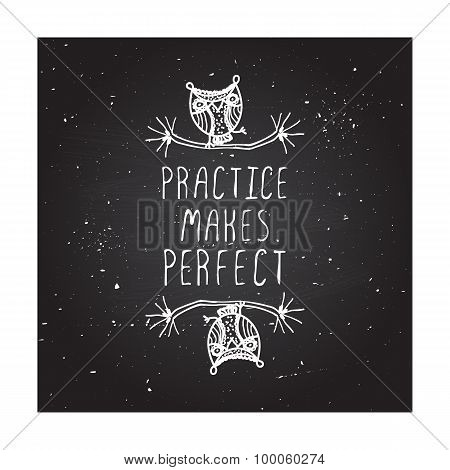 Practice makes perfect - poster