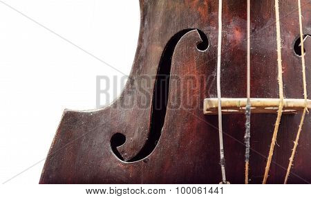 Wooden violin.