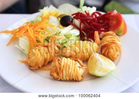Dish With Shrimp