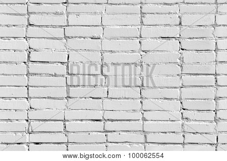 Seamless white painted brick wall