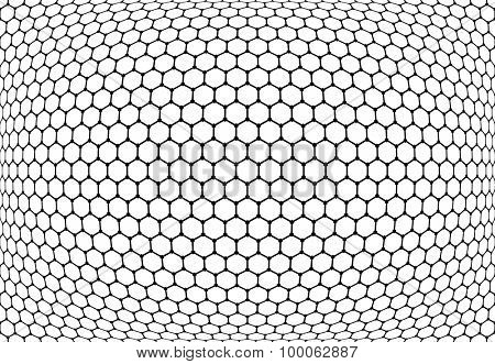 Hexagons pattern. Abstract textured latticed background. Vector art.
