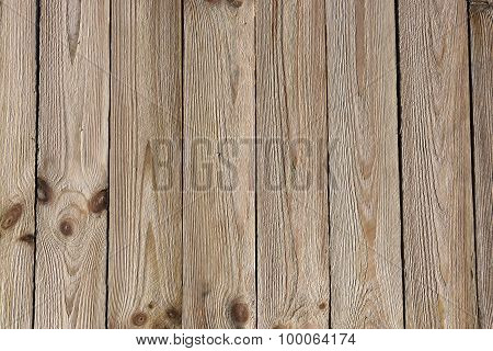 The surface of the boards.