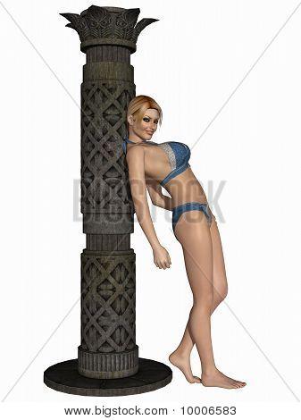 Menina de beleza com lingerie sexy