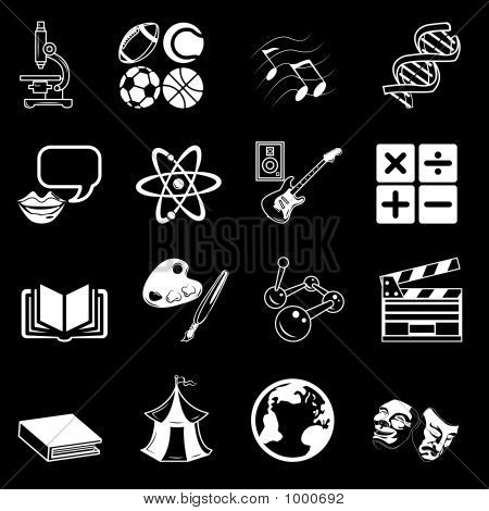 Subject Category Icon Set