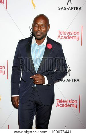 LOS ANGELES - AUG 27:  Jimmy Jean-Louis at the Dynamic & Diverse Emmy Celebration at the Montage Hotel on August 27, 2015 in Beverly Hills, CA