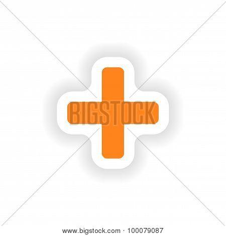 icon sticker realistic design on paper plus