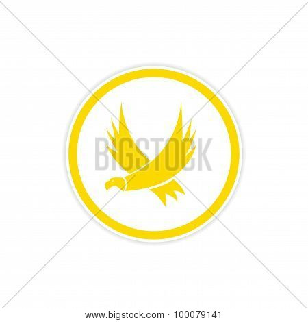 sticker silhouette of an eagle