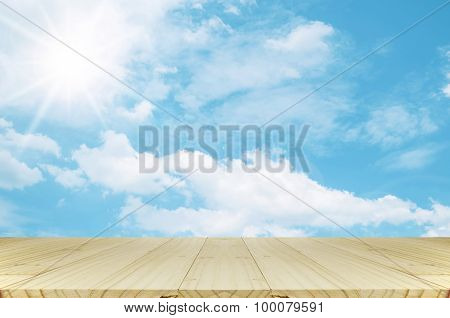 Outdoor Picnic Background On Sun Shine Day.