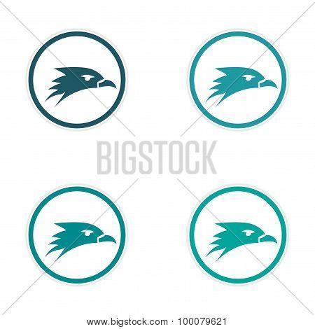 assembly stickers eagle head logo