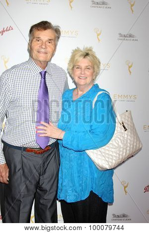 LOS ANGELES - AUG 26:  Fred Willard, Mary Willard at the Television Academy's Daytime Programming Peer Group Reception at the Montage Hotel on August 26, 2015 in Beverly Hills, CA