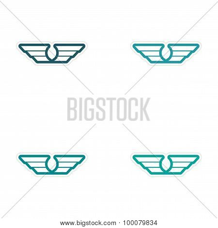 assembly stickers wings eagle